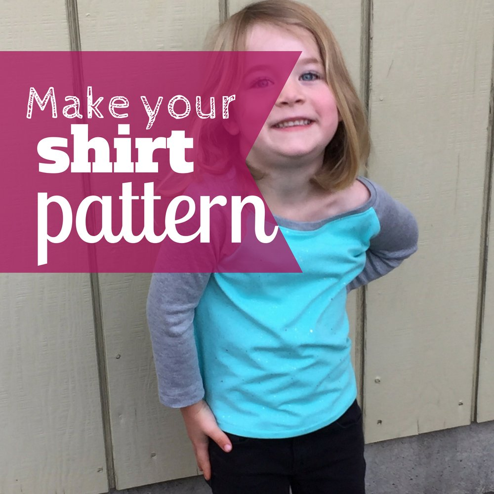 Make your own raglan t-shirt pattern | #sewingforkids #shirtpattern #kidsshirtideas