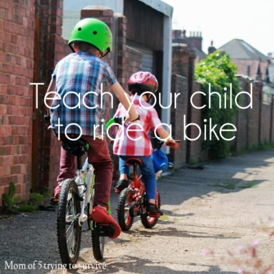Teach your child to ride a bike with these simple steps.