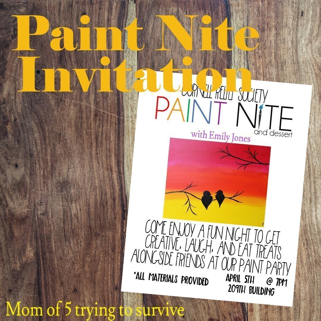 Paint Nite Invitation