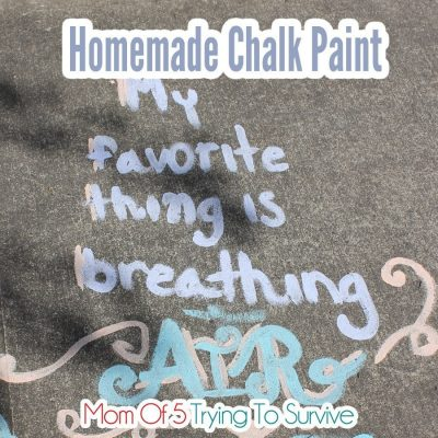quote on sidewalk with chalk paint