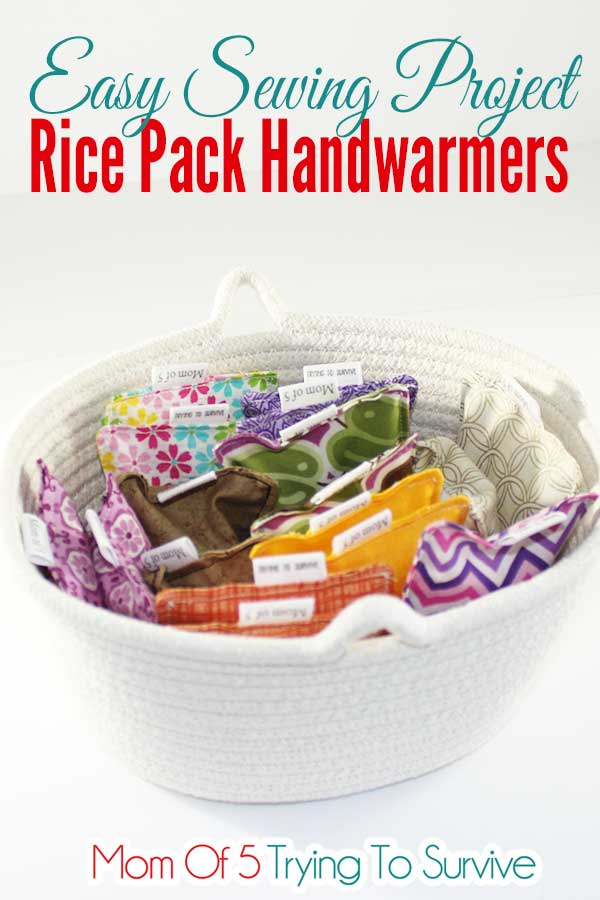basket full of rice pack handwarmers