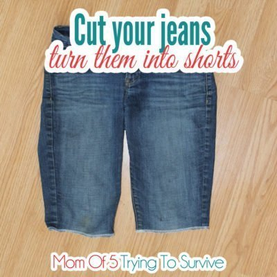 Follow this tutorial to turn your holey jeans into shorts so they last longer