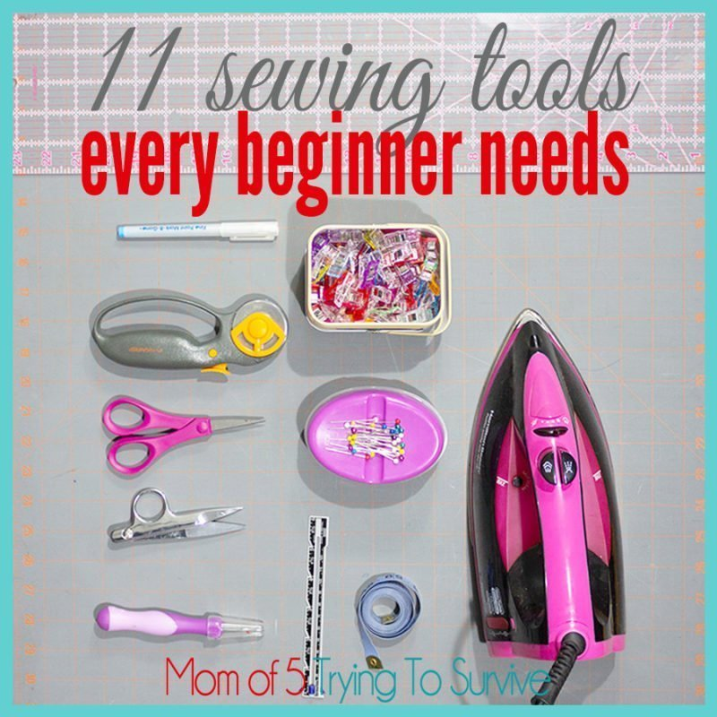 Use these 11 sewing tools to start sewing now. These are the essential tools you'll use for basic projects.
