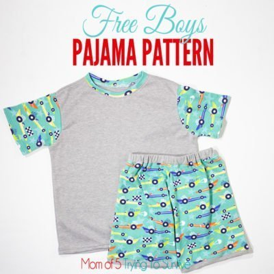 Free Boys Pajama Pattern with detailed tutorial