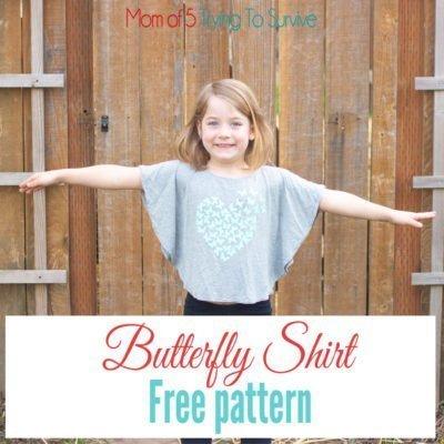 Butterfly Shirt for little girls