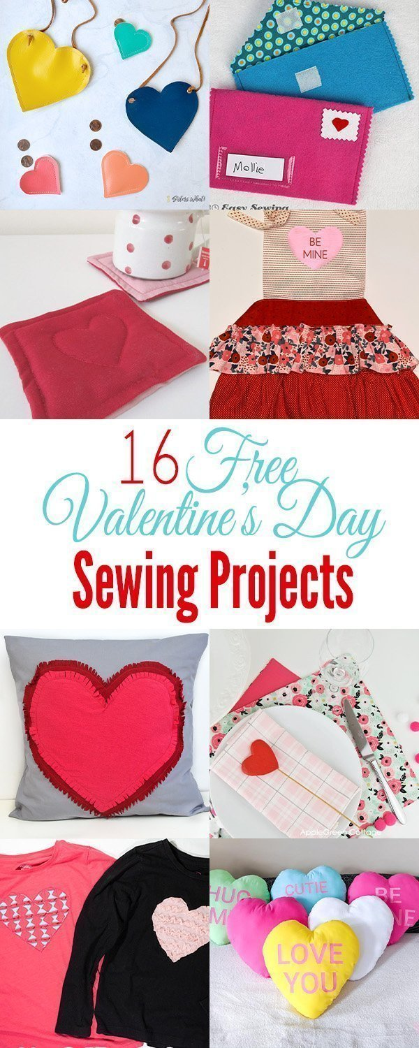 16 free valentine's day sewing projects