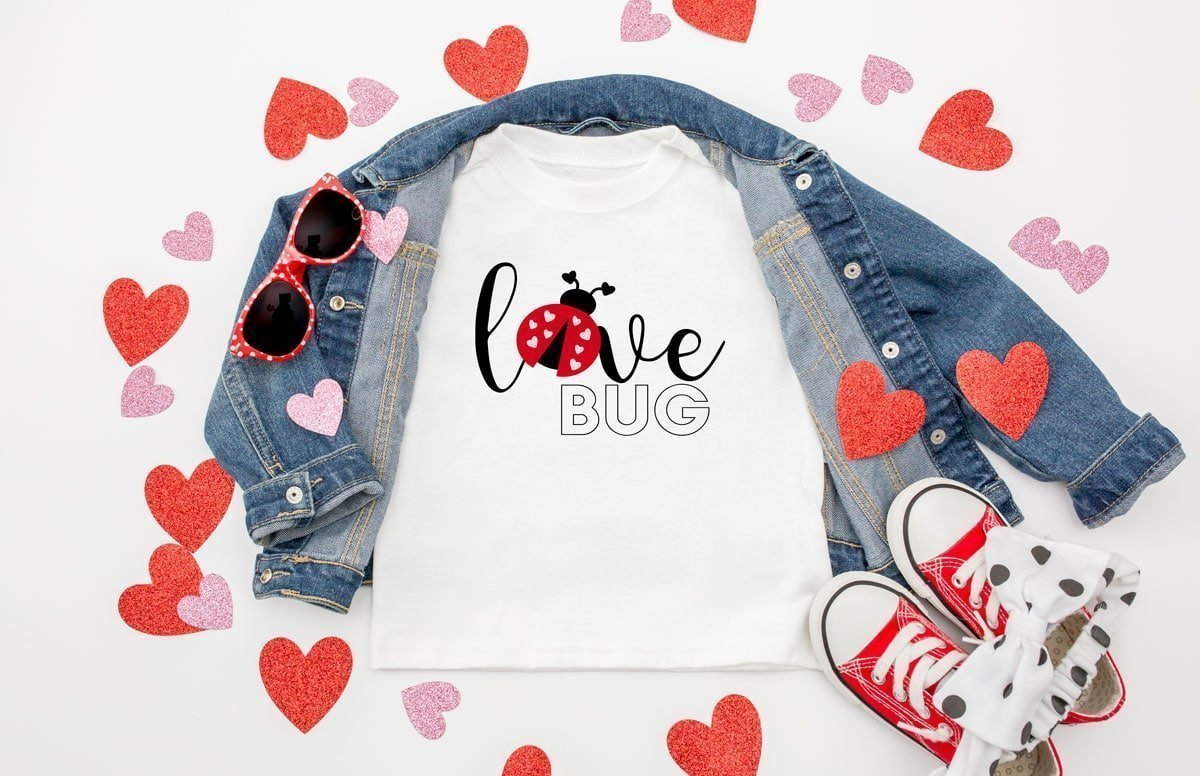 love bug svg file with a lady bug