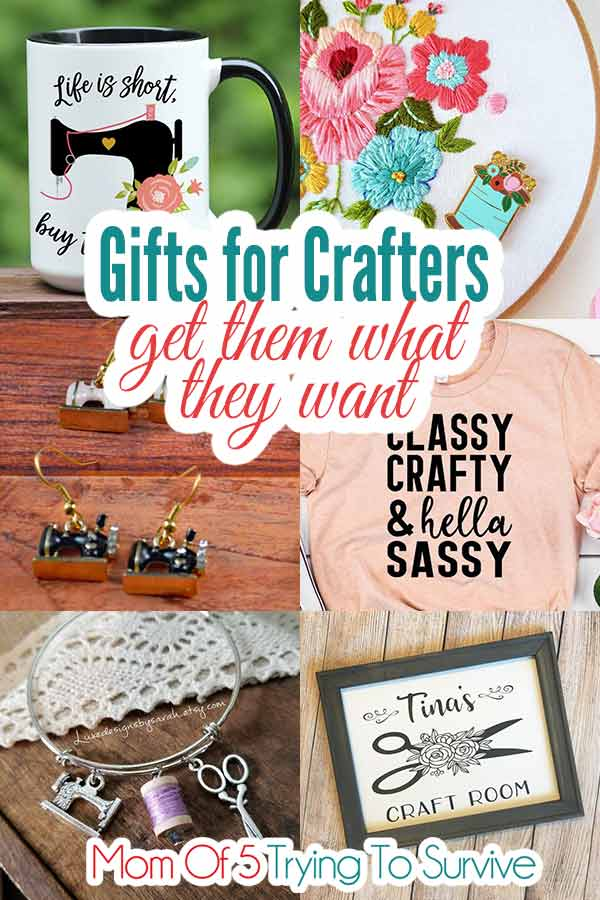 collage of gifts for crafters