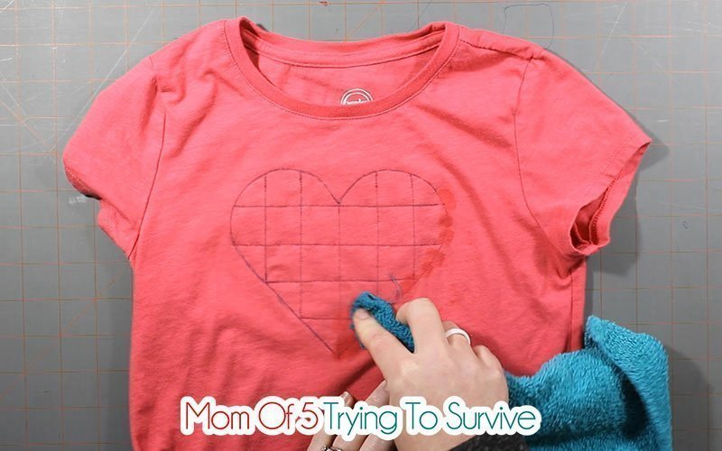removing fabric marker from shirt