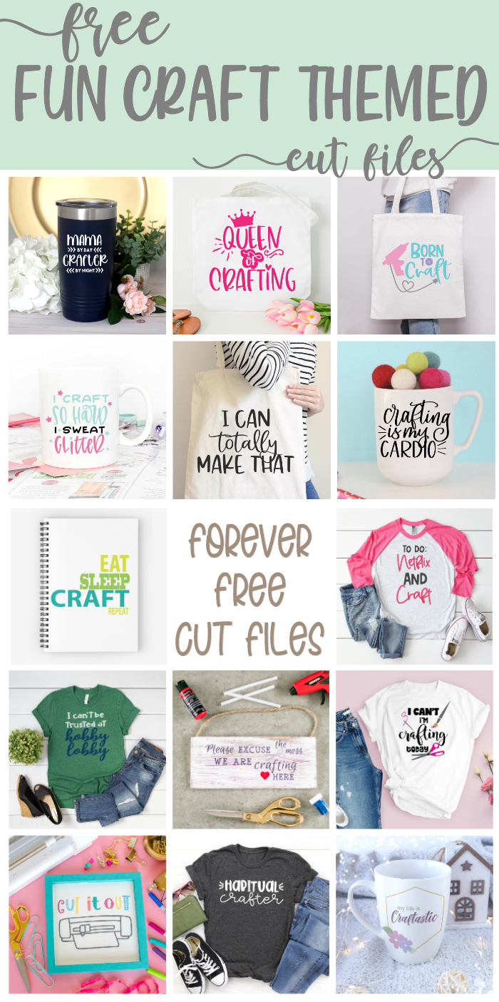 craft themed cut files from many bloggers