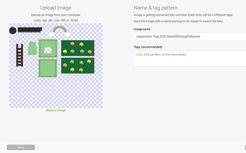 upload the file to design space