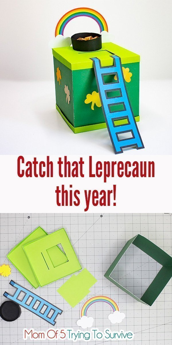 Follow these step-by-step instructions to make your very own Leprechaun Trap | #leprechauntrap #catchaleprechaun #diyprojects #cricutpaperprojects #cricutprojects