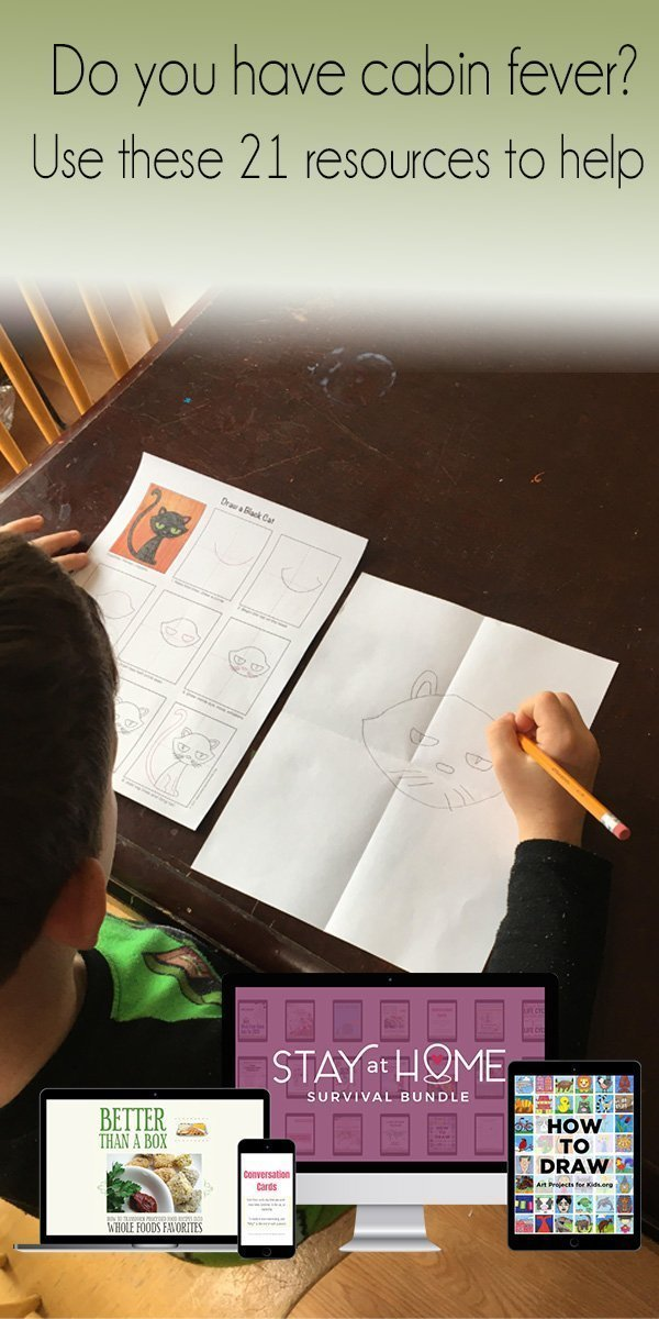 child drawing a cat