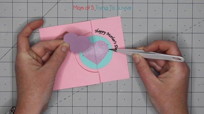 placing hearts on thread