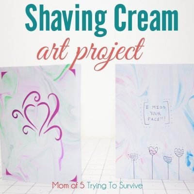 greeting cards made with shaving cream and liquid watercolors