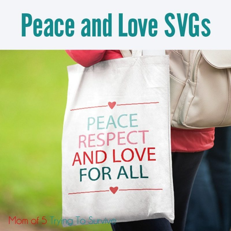 peace and love svg
