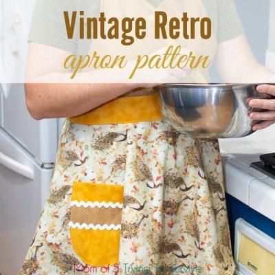 vintage retro apron