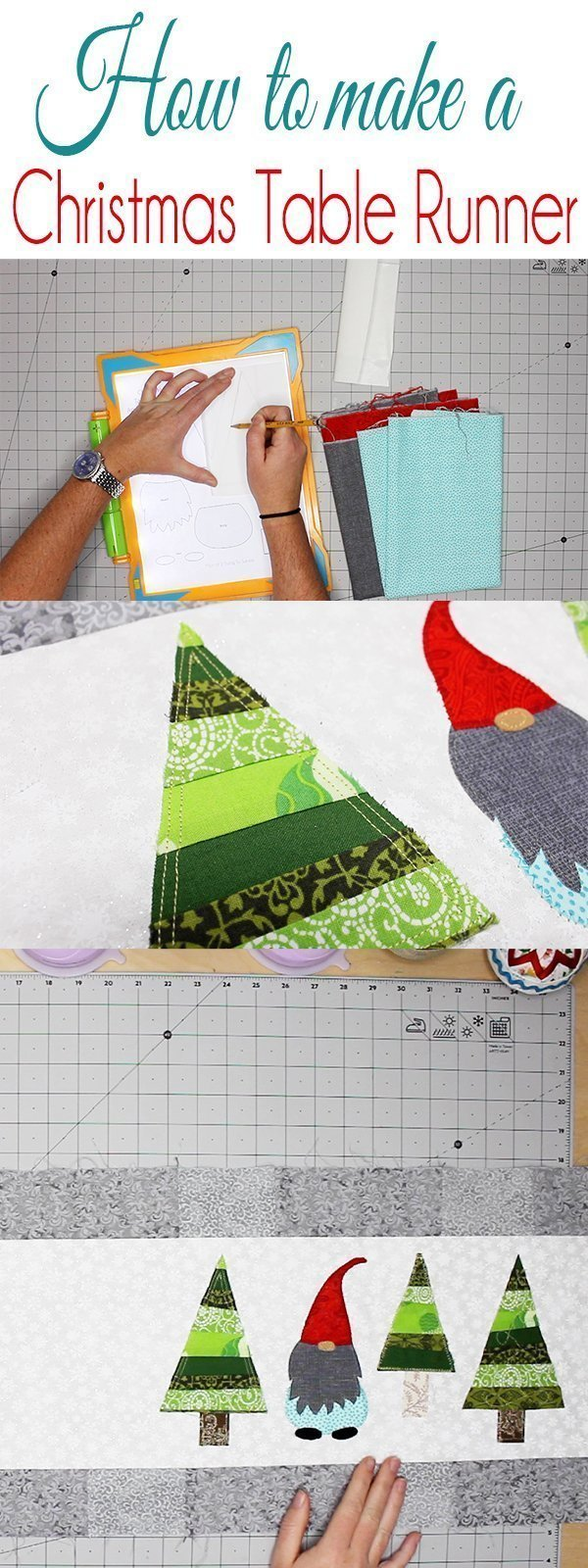 How to make a christmas table runner