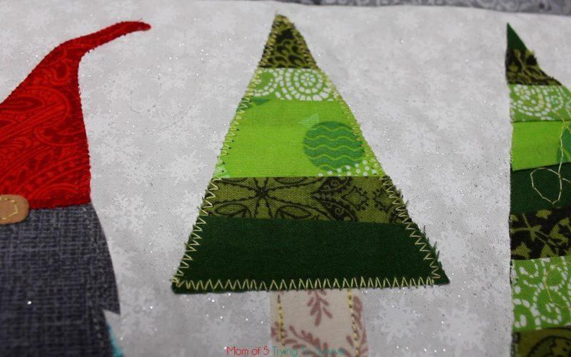 zig zag stitch tree